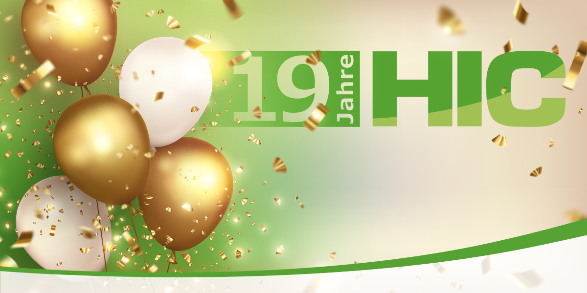 19 jahre HIC Party Luftballons